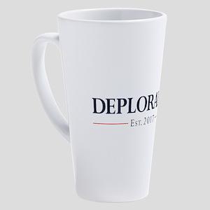 Deplorable Est 2017 17 oz Latte Mug