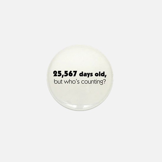70th Birthday Mini Button