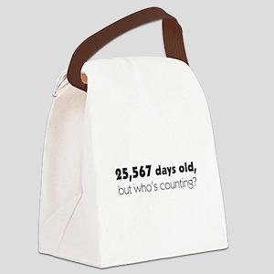 70th Birthday Canvas Lunch Bag