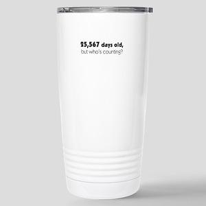 70th Birthday Stainless Steel Travel Mug