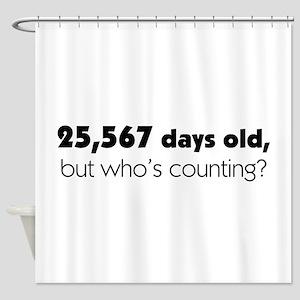 70th Birthday Shower Curtain