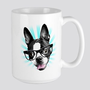 Cute! Hipster Boston Terrier Mug