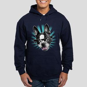 Cute! Hipster Boston Terrier Hoodie