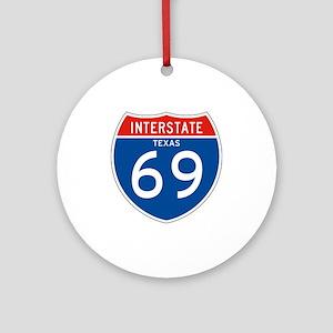 Interstate 69 - TX Ornament (Round)