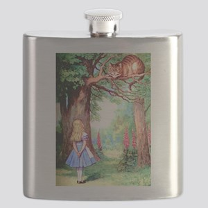 Alice & The Cheshire Cat Flask