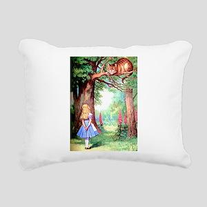 Alice & The Cheshire Cat Rectangular Canvas Pillow