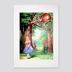 Alice & The Cheshire Cat 5'x7'Area Rug
