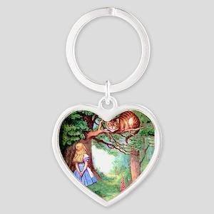 Alice & The Cheshire Cat Heart Keychain