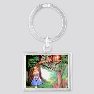 Alice & The Cheshire Cat Landscape Keychain