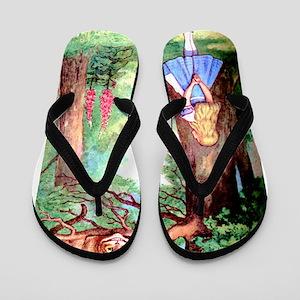 Alice & The Cheshire Cat Flip Flops
