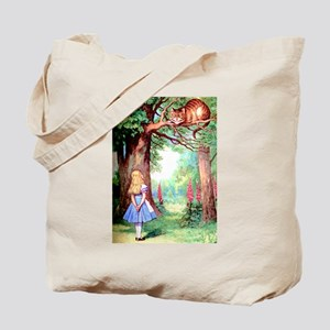 Alice & The Cheshire Cat Tote Bag