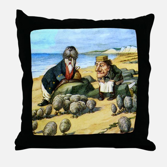 The Carpenter and the Walrus Throw Pillow