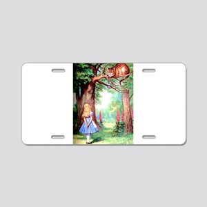 Alice & The Cheshire Cat Aluminum License Plate