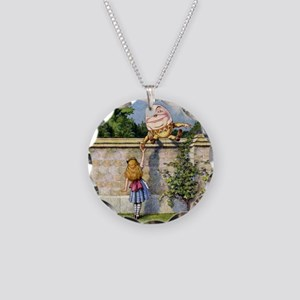 Alice and Humpty Dumpty Necklace Circle Charm