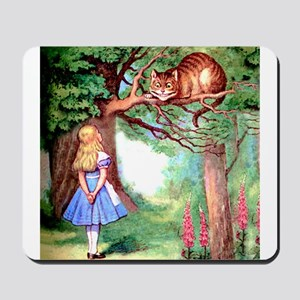 Alice & The Cheshire Cat Mousepad