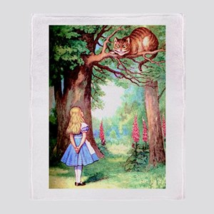 Alice & The Cheshire Cat Throw Blanket