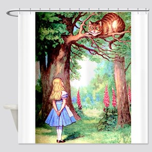 Alice & The Cheshire Cat Shower Curtain