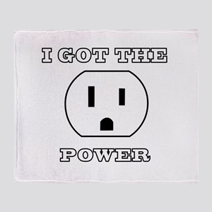 I Got The Power Throw Blanket