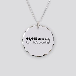 60th Birthday Necklace Circle Charm