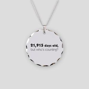 60th Birthday Necklace Circle Charm