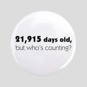 """60th Birthday 3.5"""" Button"""