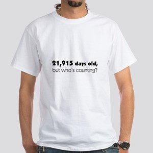 60th Birthday White T Shirt