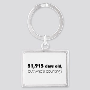 60th Birthday Landscape Keychain