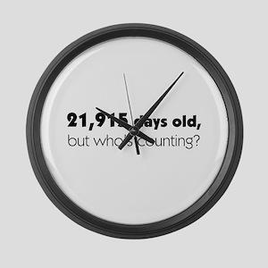 60th Birthday Large Wall Clock