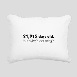 60th Birthday Rectangular Canvas Pillow