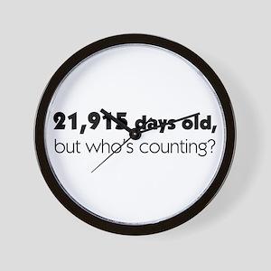 60th Birthday Wall Clock