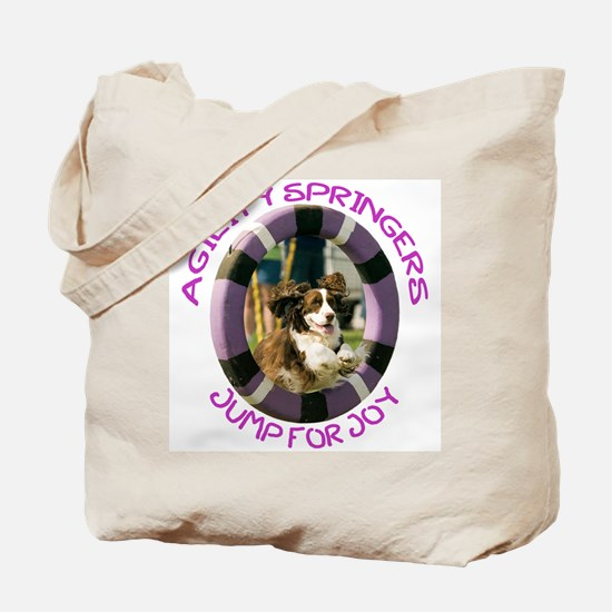 Agility Jump for Joy w/URL Tote Bag