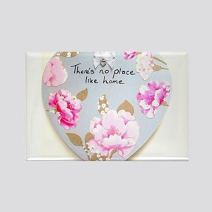 There's No Place Like Home Heart Rectangle Magnet