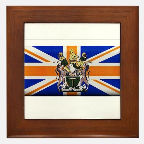 British Rhodesian Flag Framed Tile