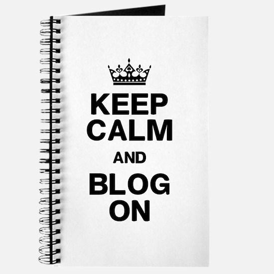 Keep Calm Blog On Journal