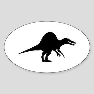 Dinosaur spinosaurus Sticker (Oval)