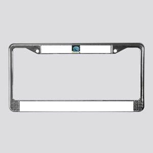 Schnauzer on the Couch License Plate Frame