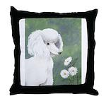 StephanieAM Poodle Throw Pillow