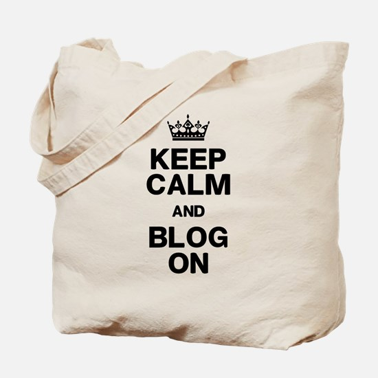 Keep Calm Blog On Tote Bag