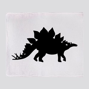Dinosaur Stegosaurus Throw Blanket