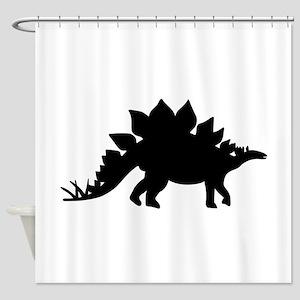 Dinosaur Stegosaurus Shower Curtain