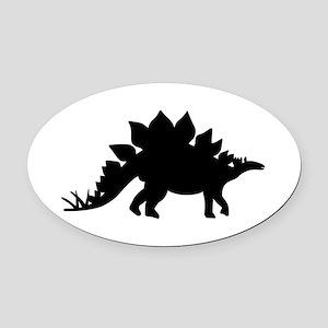 Dinosaur Stegosaurus Oval Car Magnet