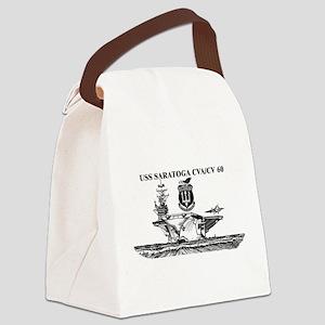 USS Saratoga Canvas Lunch Bag
