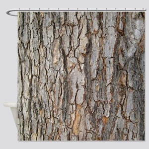 Tree Bark Texture Shower Curtain