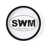 SWM - Single White Male Wall Clock