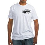 SWM - Single White Male Fitted T-Shirt