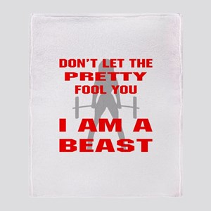 Female I Am A Beast Throw Blanket