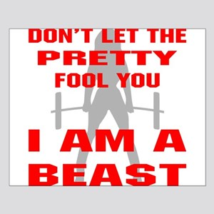 Female I Am A Beast Small Poster