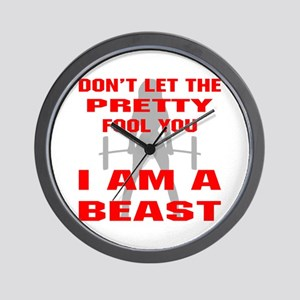 Female I Am A Beast Wall Clock