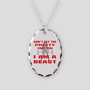 Female I Am A Beast Necklace Oval Charm