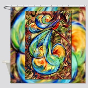Fanciful Bird Shower Curtain